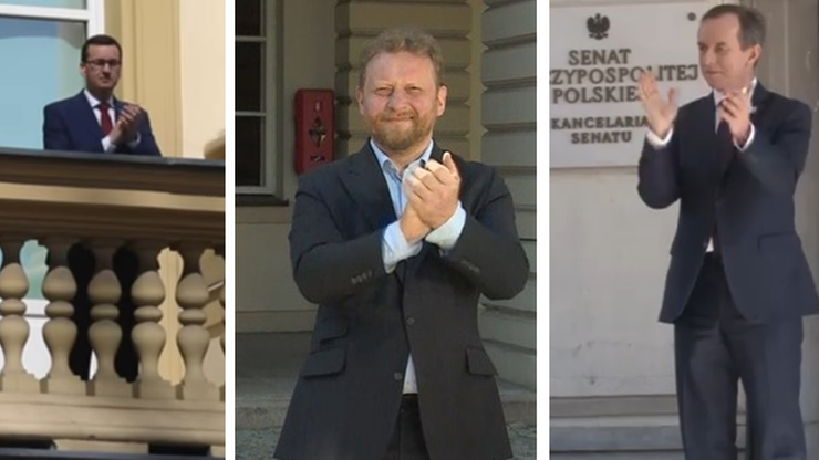 Bohaterowie w bieli. Polacy podziękowali służbom medycznym